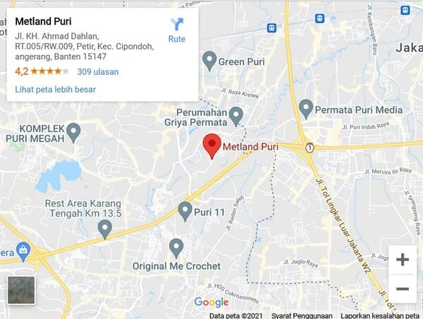 map metland puri